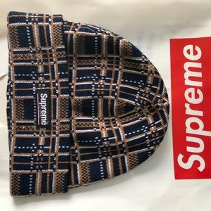 Supreme Beanie plaid FW18